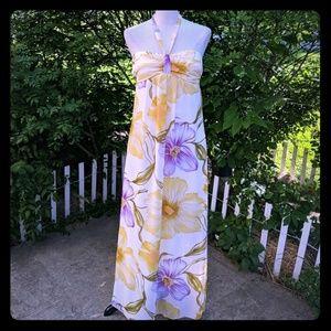 Maurice's halter top Floral tea dress Beach Maxi 5